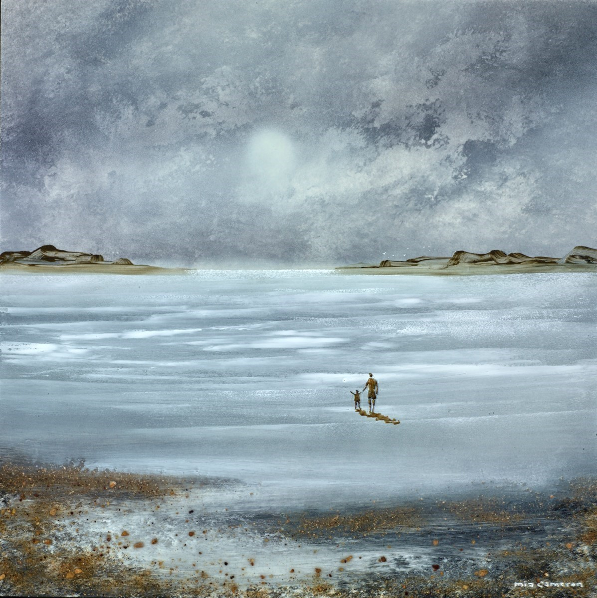 Towards the Moon IV by Mia Cameron -  sized 16x16 inches. Available from Whitewall Galleries